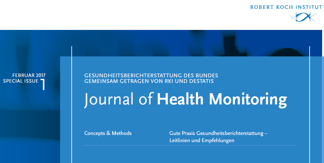 Cover Journal Of Health Monitoring Quelle Rki